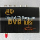 Single antenna Support 20~70KM/H HD Car DVB-T2 Car digital TV Receiver Fully compatible with DVB-T2 and H.264 MPEG-4 MPEG-2