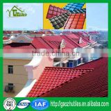 ISO-9001 certificated heat insulation PVC roof tile/pvc waterproof roof shingle/corrugated roofing sheets