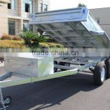 Economic 10x5ft Hot Dipped Galvanized Farm Used Hydraulic Tipper Trailer Heavy Duty Trailer