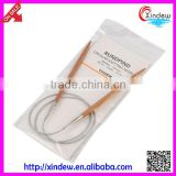 Carbonized bamboo SS rope/steel wire rope circular knitting needle