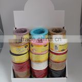 assorted color twisted paper rope 2mm 32meter length paper cords, paper string used for gift packing