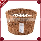 Supermarket store fruit bread display hollow pattern round bulk picnic baskets
