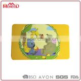 Promotional yellow small animals printing retangular plastic sushi cutting board