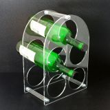 Transparent Commercial Equipment Hotel Wine Holder Display Acrylic Display Rack For Wine
