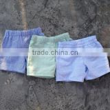 Boys summer beach shorts seersucker fabric swim trunk toddler boy beachwear