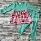 Wholesale children's boutique clothing fall ruffle outfits girls remake boutique outfits