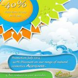 40% discount on our natural cosmetic products