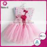 Hot selling wedding dresses with butterfly pink tutu skirt / fairy wing/magic wand for party for tutu costume