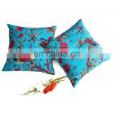 Bird Print Kantha Cushion Cover Cotton Kantha Work Pillow/Cushion Covers