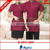 New design hotel housekeeping uniform manufacturer