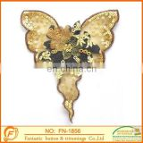 handmade butterfly sequins collar for women garments