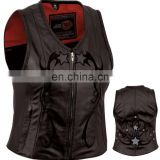 Leather Vest, Leather Motorbike Vest, Leather Fashion Vest