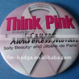 hot selling wholesale custom pin button badge with your own design for promotional, breast cancer awareness button badge