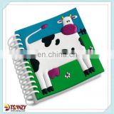 cute pvc cartoon notebook/pocketbook for kids