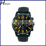 Wholesale Sport Watch Military Pilot Aviator Army Watches Men Racer Watch Yellow WP018