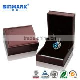 Luxury OEM Variety Kinds Wine Red Large Cheap Gift PU Jewelry Box