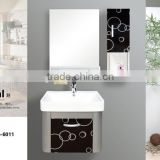 cheap price bathroom vanity cabinetwith mirror /new design pvc bathroom cabinet with mirror
