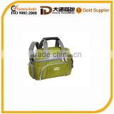 600D polyester thermal cooler bag with handle and shoulder strap for frozen food and wine