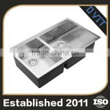Exceptional Quality Personalized Design Right Angled Stainless Steel Kitchen Sink