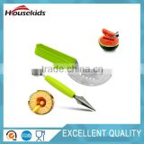 Watermelon Slicer Corer Cutter Tongs & Server Set - as Seen on TV - High Quality 304 Stainless Steel - Dual Purpose Melon Baller