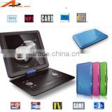 hot selling dvd portable evd/dvd player with vga output and game function portable dvd player