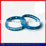 Fashion slogan advertising silicone bracelets