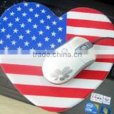 mouse pad,sublimation mouse pad thickness 3mm 5mm circular rectangle heart-shaped