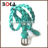 fashion braided belt high quality belt with alloy buckle for wholesale baseball belt