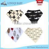 WZ-MS-1915 soft absorbent fleece newborn baby bibs bandana wholesale