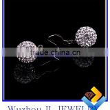 Fashion Party Decor Sexy Shambhala Bead Wholesale Earring Accessories 925 silver Jewelery Charm earring