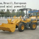 Russina,Brazil,European hot good mini powerful model new design compact front wheel loader 0.8 tons