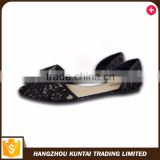 Factory manufacture various lady beautiful flat sandal