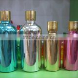 high-grade 50ml/100ml gold plating metal bottle screw cap,glass dropper bottle for perfume