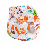 ananbaby reusable prints washable baby fox cloth diaper