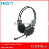 hot sale universal bulk headphones with mic for computer/laptop/Mp3 etc
