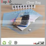 Hot sale my clear file bag transparent mesh file bag plastic clear file folder office supplies