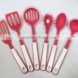 2014 new design handle 6pc silicone cooking utensil kitchen set