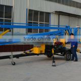 Factory wanted trailer mounted towable spider boom lift/arm lift/sky lift table with diesel engine
