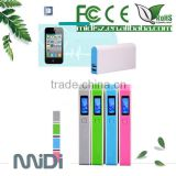 2014 new popular LCD display power bank /portable power bank charger 6000mah from china factory
