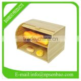 BB002-Bamboo Bread Bin(with drawer)