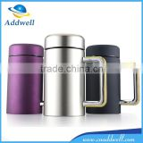 350ml office business stainless steel vacuum cup with handle