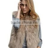 Luxury Womens Fox Faux Fur Vest Coat Sleeveless Short Waistcoat                                                                         Quality Choice