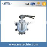 OEM Precision 6 Inch Stainless Steel Seat Pneumatic Butterfly Valve