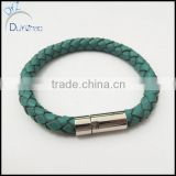 Fashional Stainless Steel Leather Bracelet