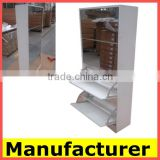 high gloss fashion melamine MDF shoe cabinet rack with mirror