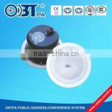 OBT-810T Iron security system equipment 100v ceiling speaker for hospital,hotel,library and buildings