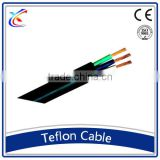 Manufacturers high voltage electric 1.5mm China teflon wire green 3 core flexible power cable