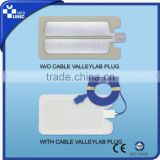 Disposable Adult Monopolar Electrosurgical Grounding Pad with cable, ECG Electrode