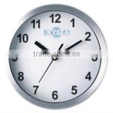 6 inch metal decorative wall mounted clock, round clock