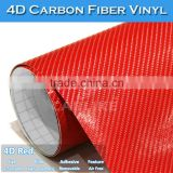 SINO STICKER Air Bubble Free Best Sale Car Covering 4D Carbon Fiber Film